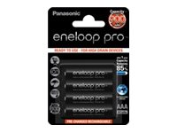 Panasonic eneloop pro BK-4HCCE/4BE - Batterie 4 x AAA-Typ - NiMH - (wiederaufladbar) - 900 mAh