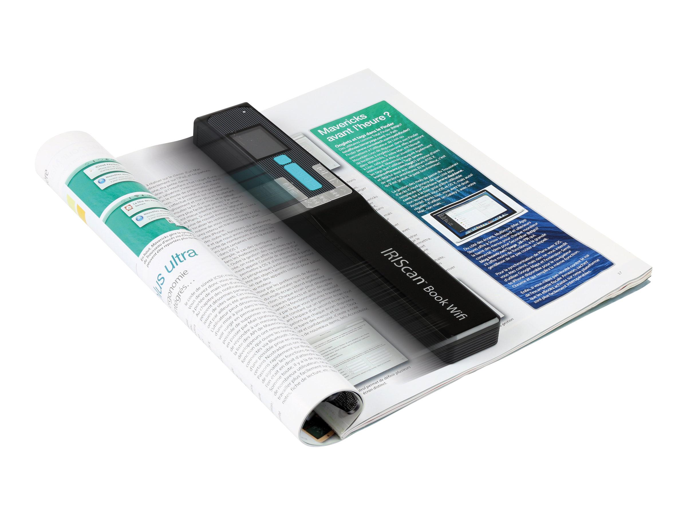 IRIS IRIScan Book 5 Wifi - Scanner als Handgerät - Contact Image Sensor (CIS) - A4 - 1200 dpi - USB, Wi-Fi