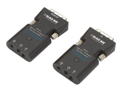 Black Box Mini Extender Kit for DVI-D and Stereo Audio over Fiber - Erweiterung für Video/Audio - bis zu 1.5 km - 1310 nm / 1550