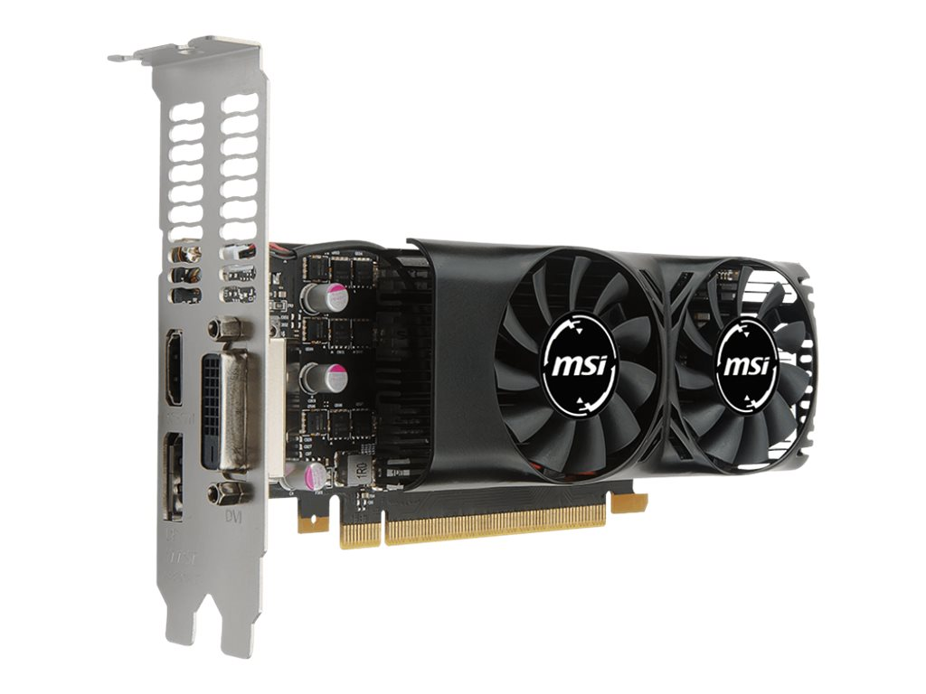 MSI GTX 1050 TI 4GT LP - Grafikkarten - GF GTX 1050 Ti - 4 GB GDDR5 - PCIe 3.0 x16 Low-Profile - DVI, HDMI, DisplayPort