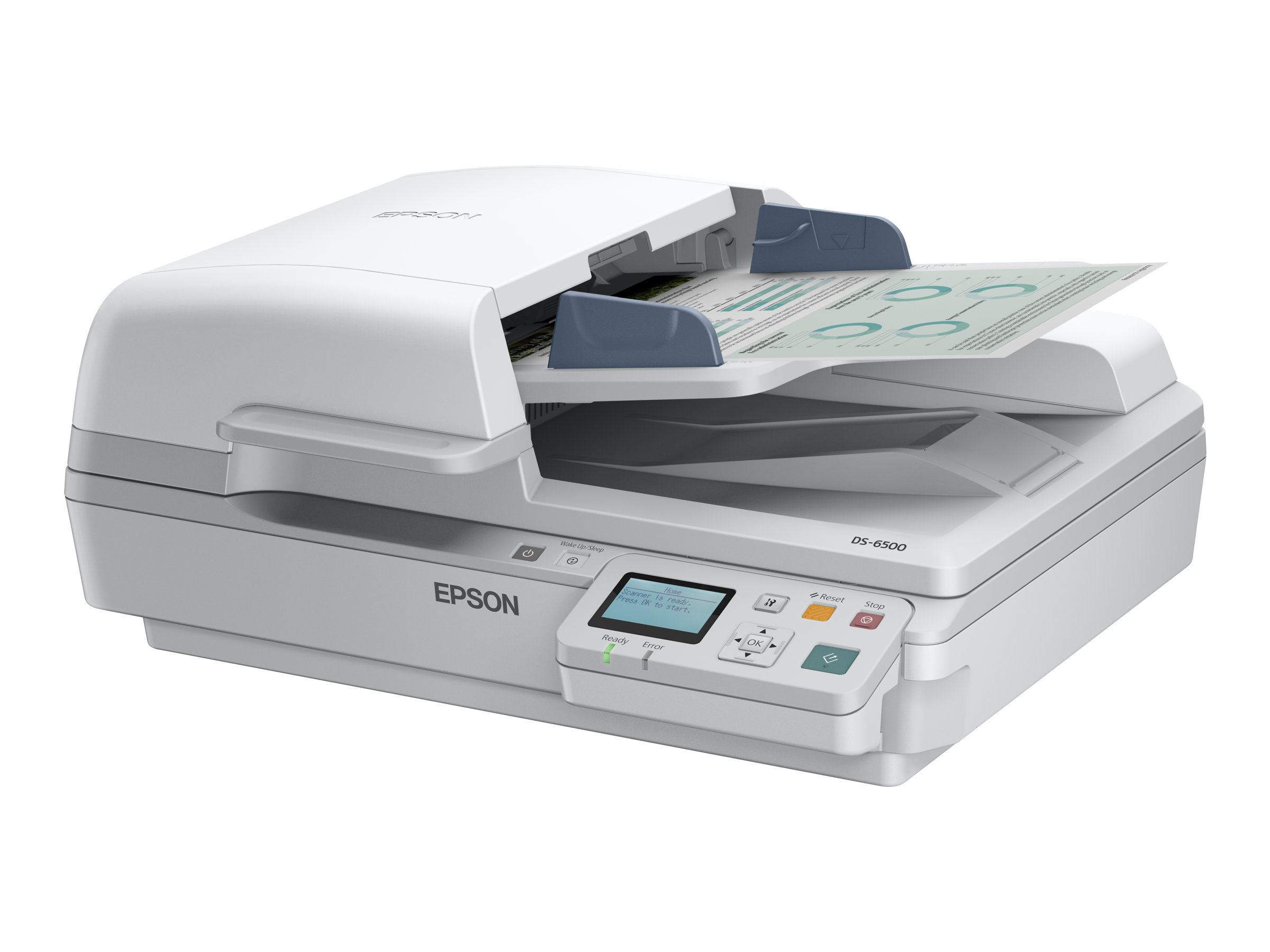 Epson WorkForce DS-7500N - Dokumentenscanner - Duplex - A4 - 1200 dpi x 1200 dpi - bis zu 40 Seiten/Min. (einfarbig) / bis zu 40