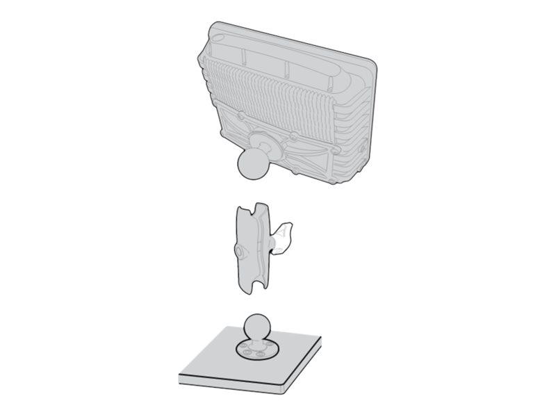 Intermec Standard Vehicle Mounting Kit - Montagekomponente (Aufbauplatte, Befestigungsplatte, Schwenkarm) für Computer für den E