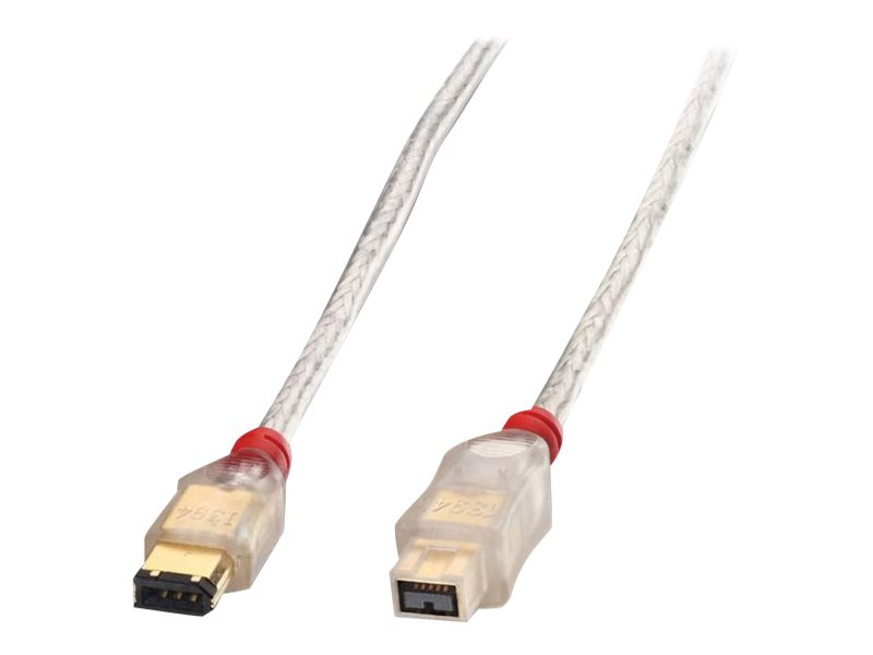 Lindy Premium - IEEE 1394-Kabel - FireWire, 6-polig (M) bis FireWire 800 (M) - 30 cm - geformt - durchsichtig
