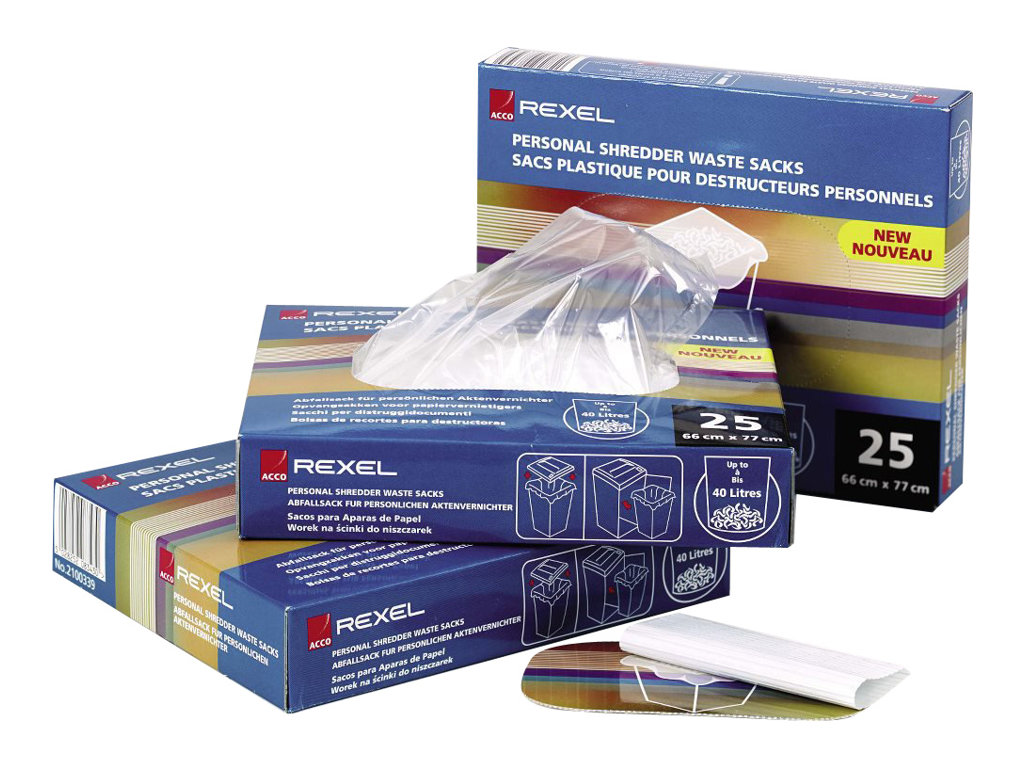 Rexel Shredder Waste Sack - Müllbeutel (Packung mit 100)
