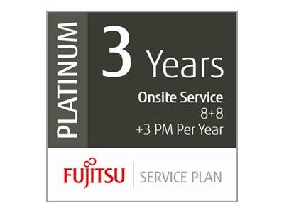Fujitsu Scanner Service Program 3 Year Platinum Service Plan for Fujitsu Low-Volume Production Scanners - Erweiterte Servicevere