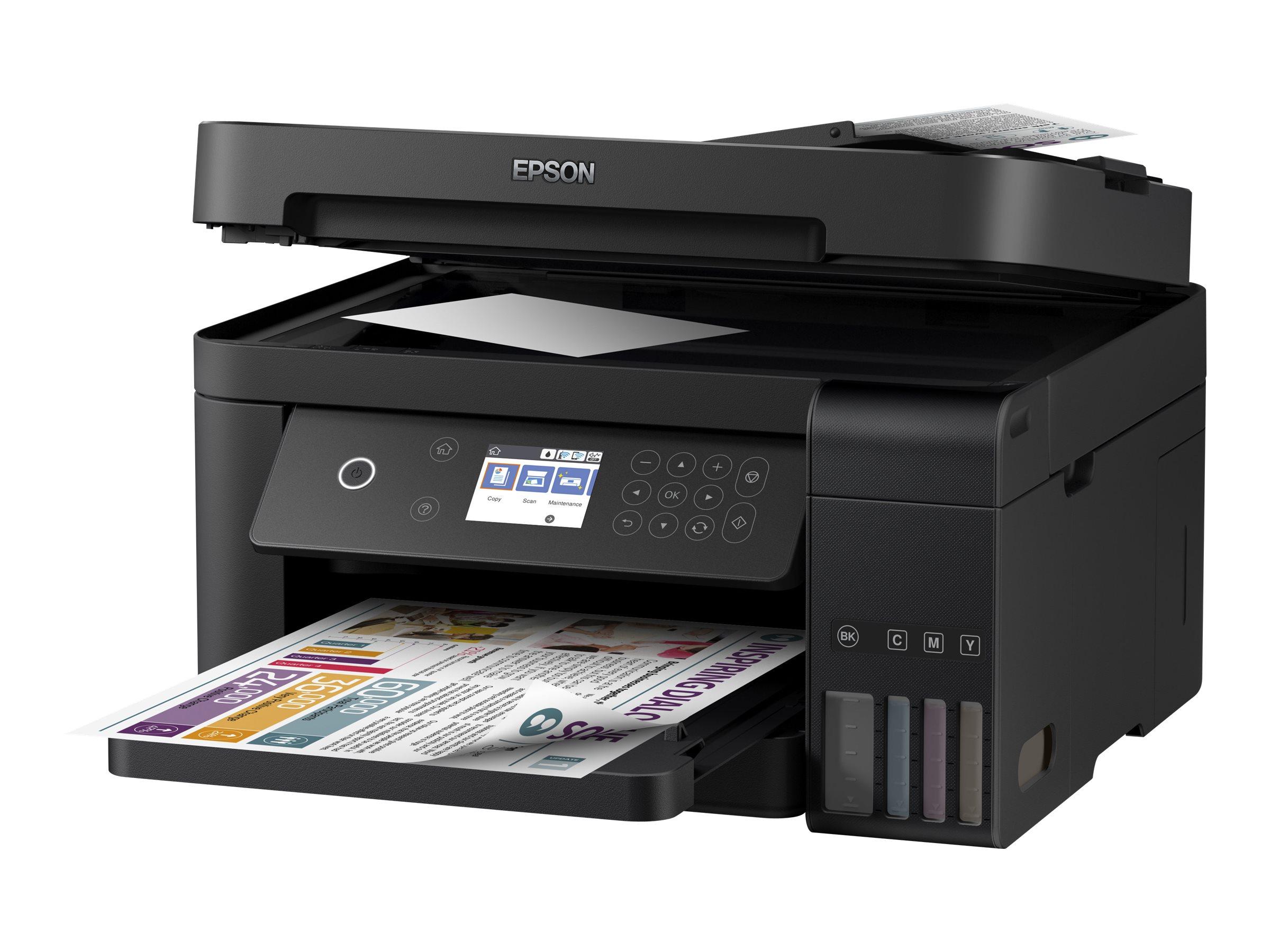 Epson EcoTank ET-3750 - Multifunktionsdrucker - Farbe - Tintenstrahl - A4/Legal (Medien) - bis zu 33 Seiten/Min. (Drucken)