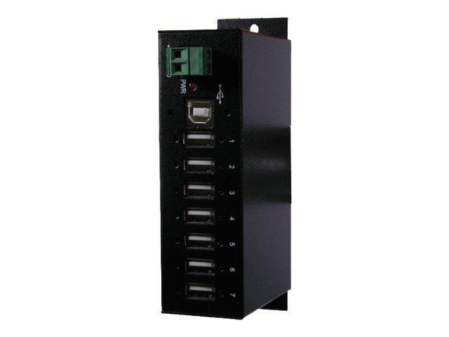 Exsys Ex 1177HMV - Hub - 7 x USB 2.0 - an DIN-Schiene montierbar - Gleichstrom