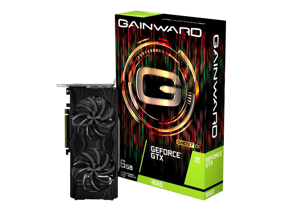 Gainward GeForce GTX 1660 Ghost OC - Grafikkarten - GF GTX 1660 - 6 GB GDDR5 - PCIe 3.0 x16 - DVI, HDMI, DisplayPort