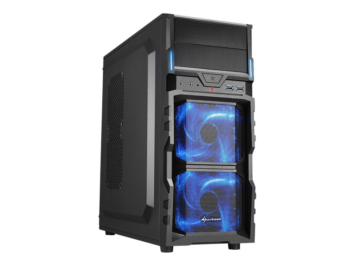 Sharkoon VG5-V - Tower - ATX - ohne Netzteil - Schwarz - USB/Audio
