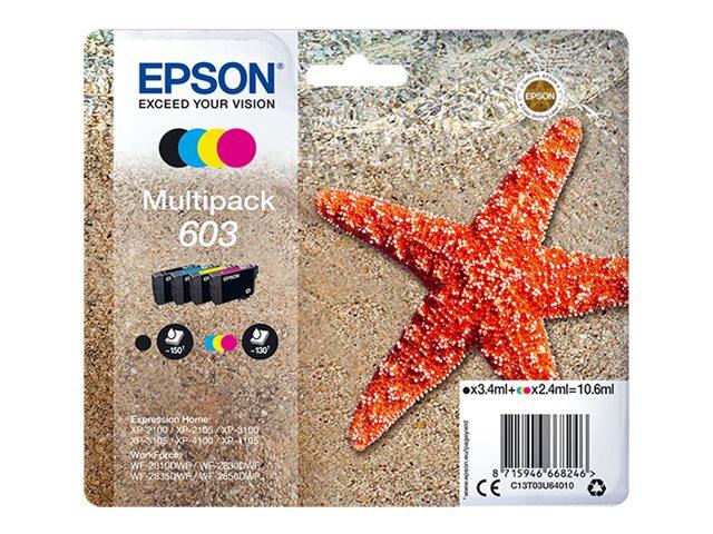 Epson 603 Multipack - 4er-Pack - Schwarz, Gelb, Cyan, Magenta - Original - Blisterverpackung - Tintenpatrone