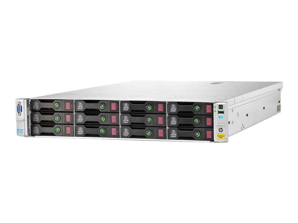 HPE StoreVirtual 4530 - Festplatten-Array - 7.2 TB - 12 Schächte (SAS-2) - HDD 600 GB x 12 - iSCSI (1 GbE), iSCSI (10 GbE) (exte