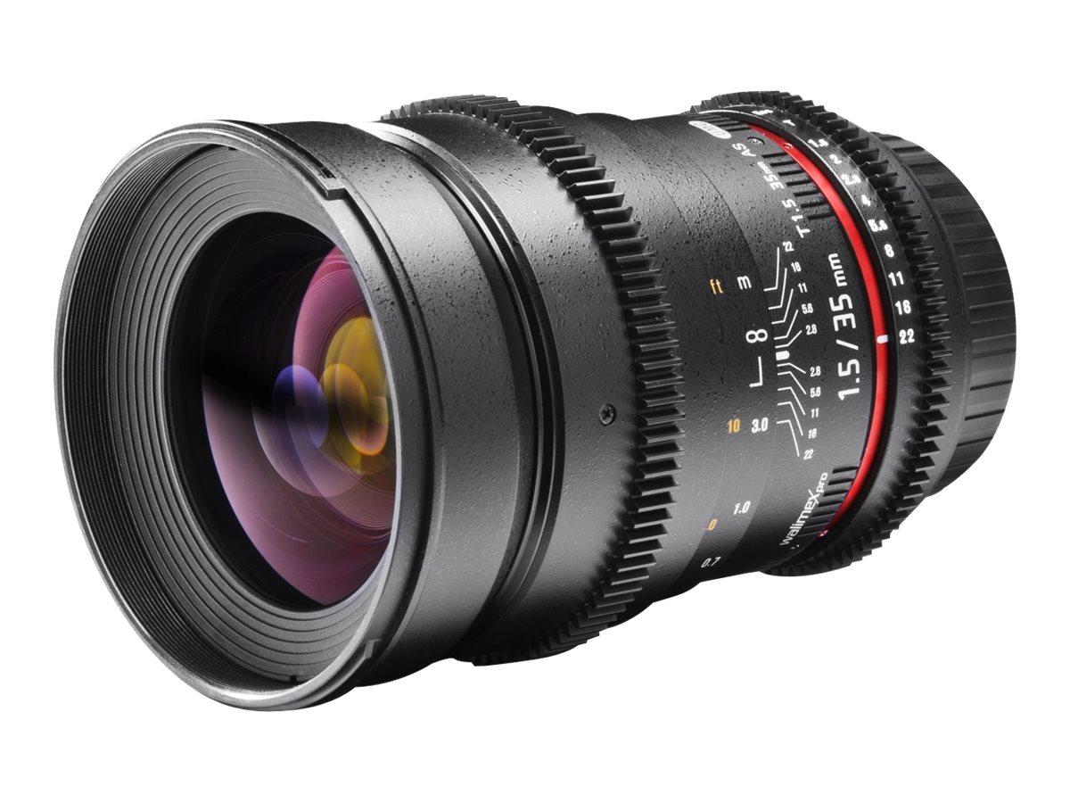 Walimex Pro - Weitwinkelobjektiv - 35 mm - T1.5 VDSLR - Canon EF - für Canon EOS 1100D, 1D, 550D, 5D, 600D, 60D, 60Da, 650D, 6D,