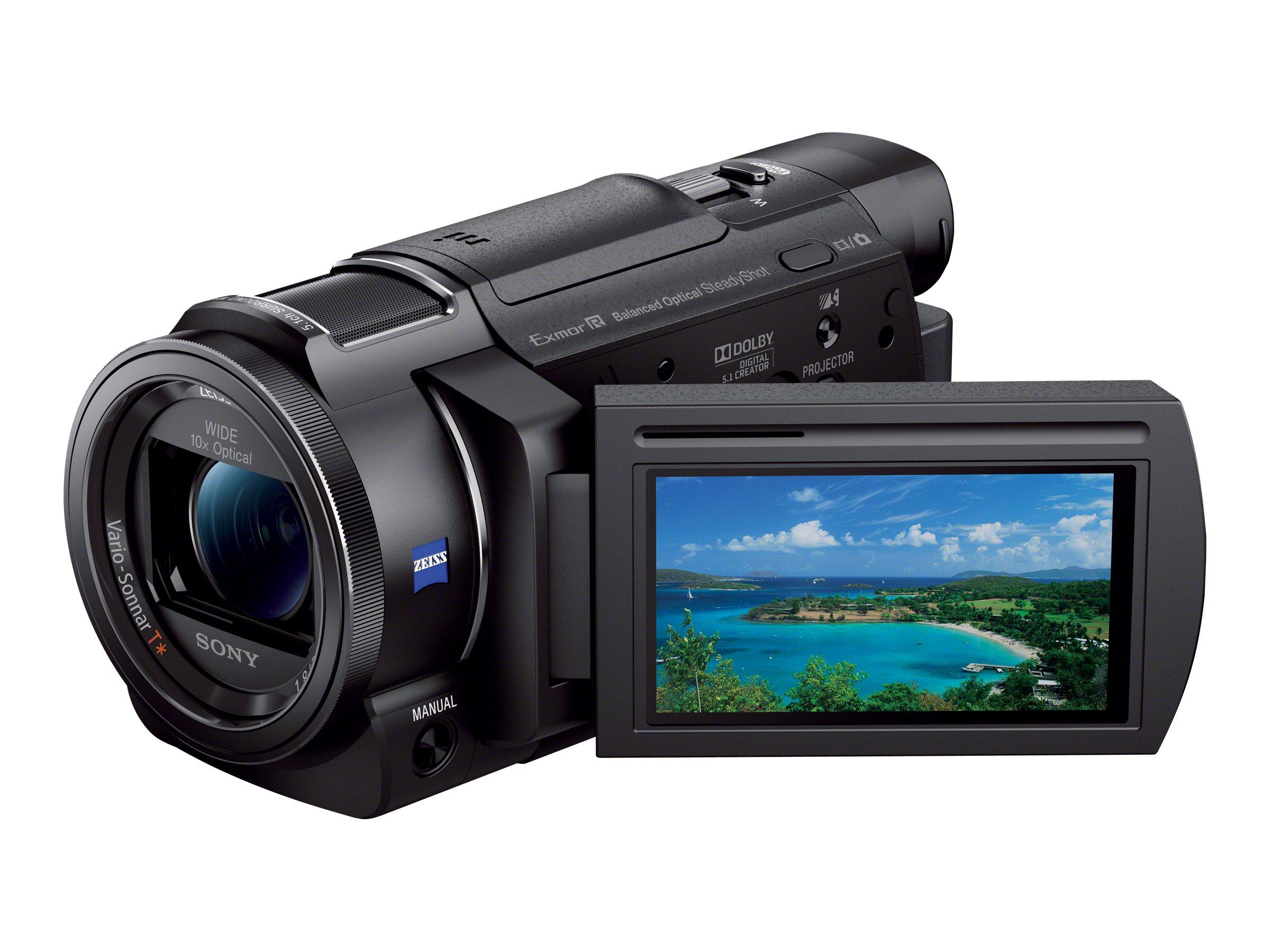 Sony Handycam FDR-AX33 - Camcorder - 4K - 18.9 MPix - 10x optischer Zoom - Carl Zeiss