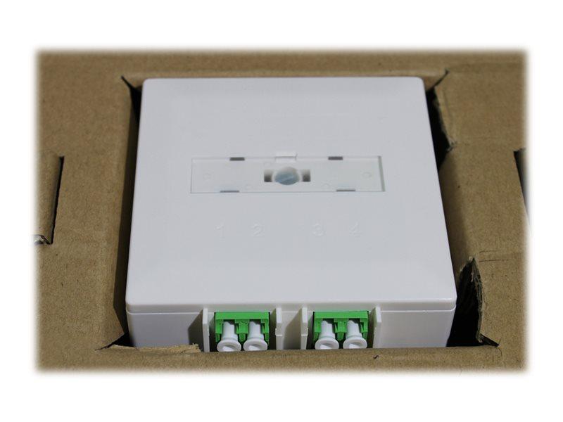DIGITUS Professional - Wanddose - geeignet für Wandmontage - LC x 2