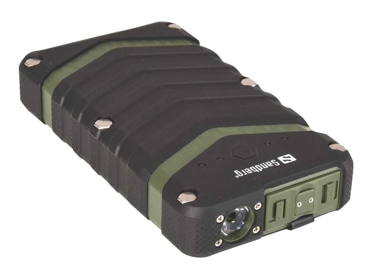 Sandberg Survivor Powerbank 20100 - Powerbank - 20100 mAh - 3.9 A - 2 Ausgabeanschlussstellen (USB)