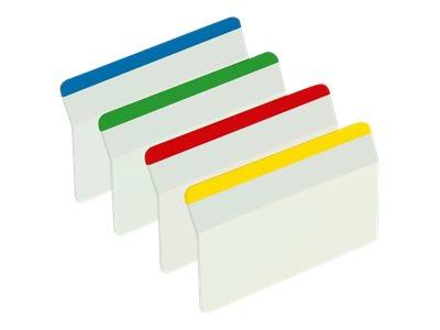 Post-it Index Strong 686-A1 - Hängeregisterreiter - weiss, Blau, Gelb, Rot, grün (Packung mit 24)