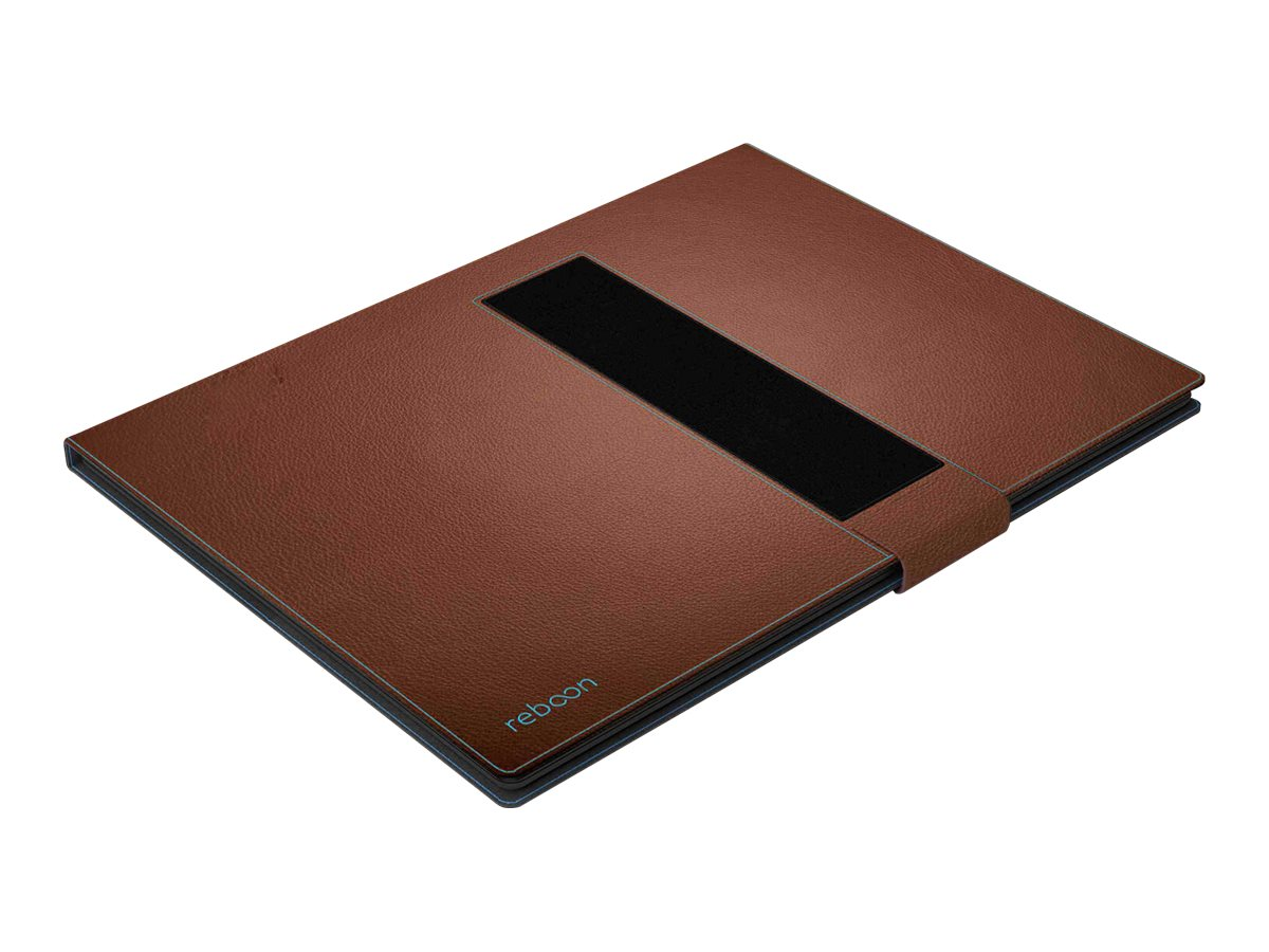 reboon booncover L2 - Flip-Hülle für Tablet - Leder - braun