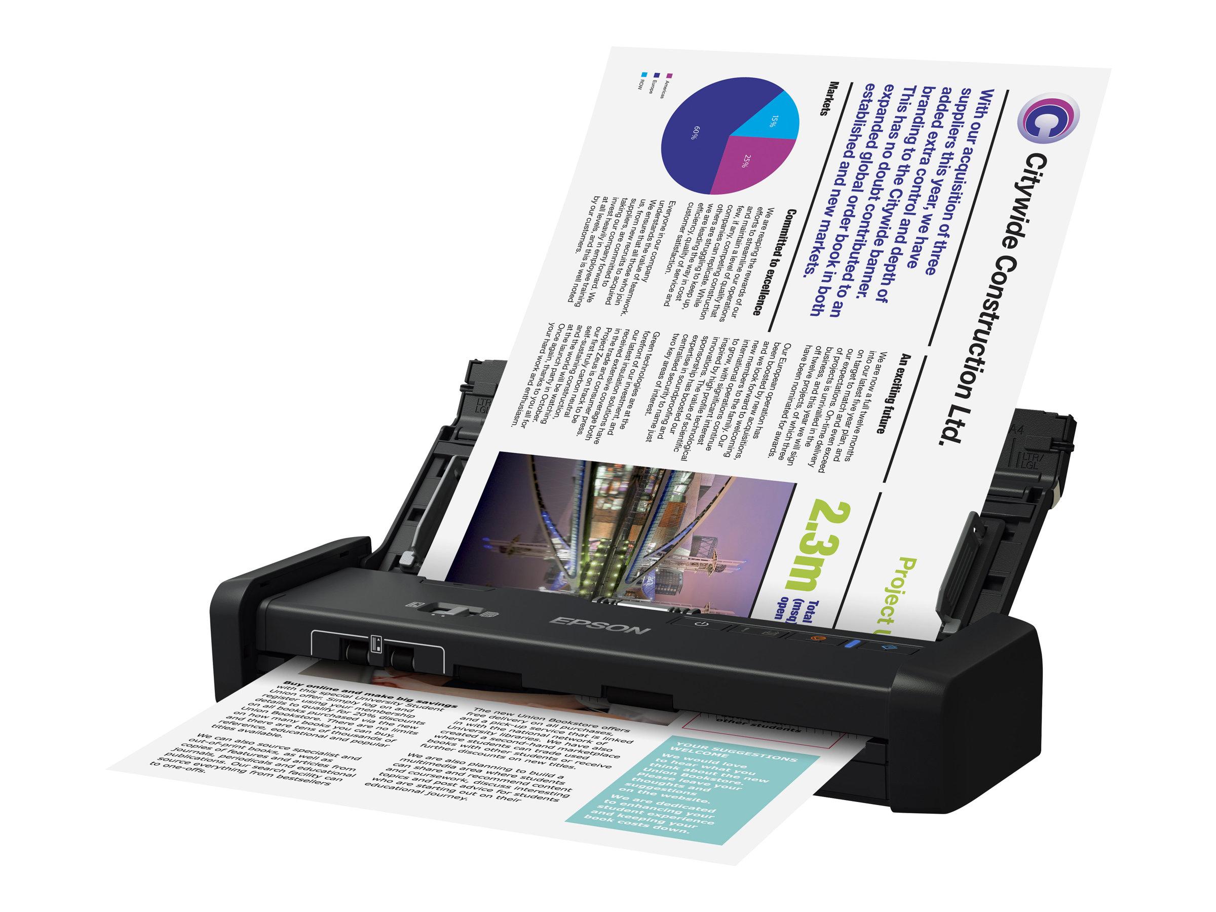 Epson WorkForce DS-310 - Dokumentenscanner - Duplex - A4 - 600 dpi x 600 dpi - bis zu 25 Seiten/Min. (einfarbig) / bis zu 25 Sei