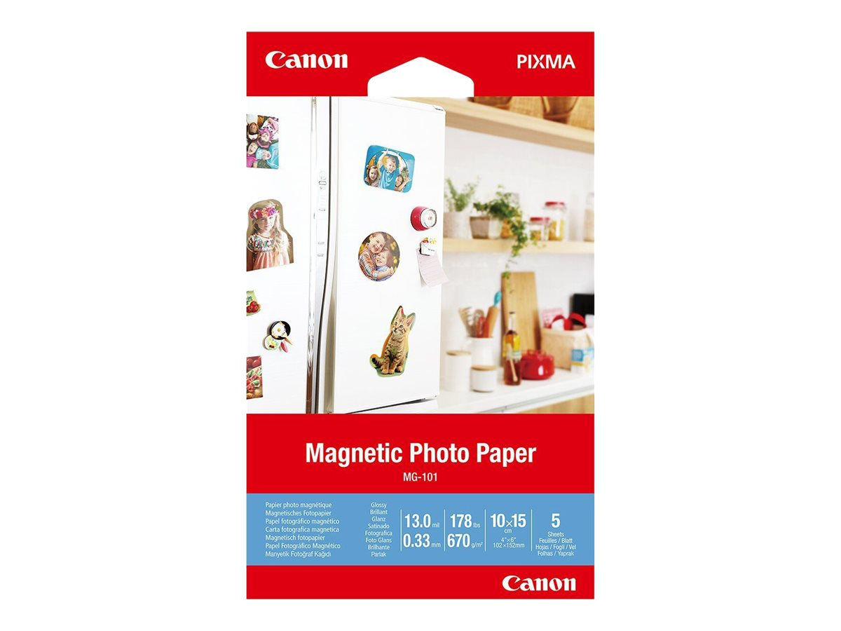 Canon Magnetic Photo Paper MG-101 - Glänzend - 13 mil - 100 x 150 mm - 670 g/m² - 178 Pfund