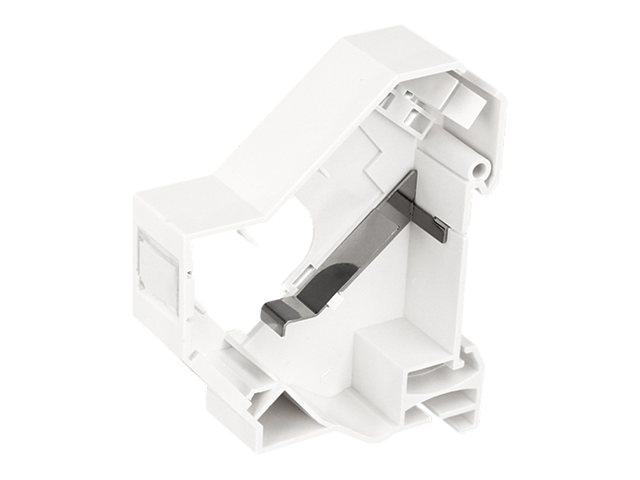 DeLOCK Keystone Mounting for DIN rail shielded - DIN-Ausgang für Schienenmontage - weiss - 1 Anschluss
