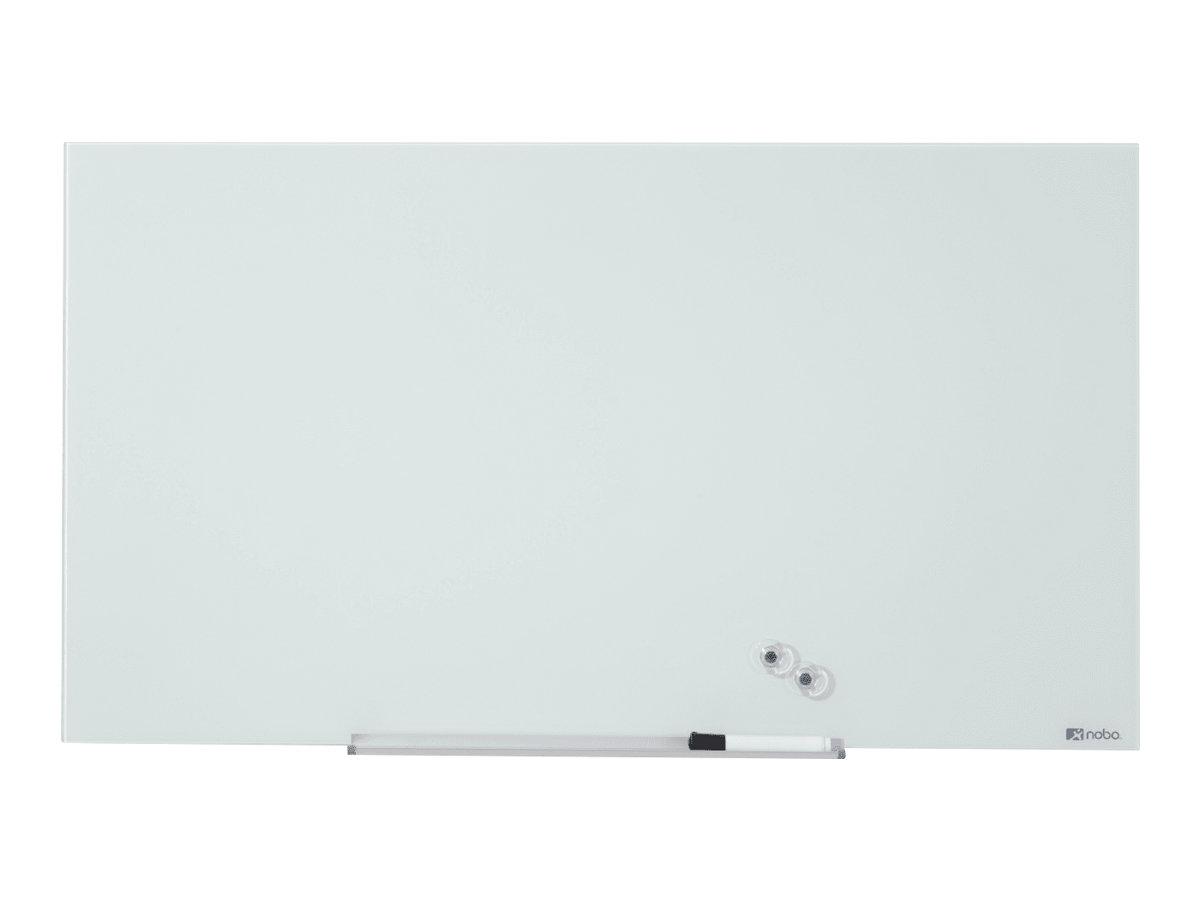 Nobo Diamond - Whiteboard - geeignet für Wandmontage - 1264 x 711 mm - Temperglas - magnetisch