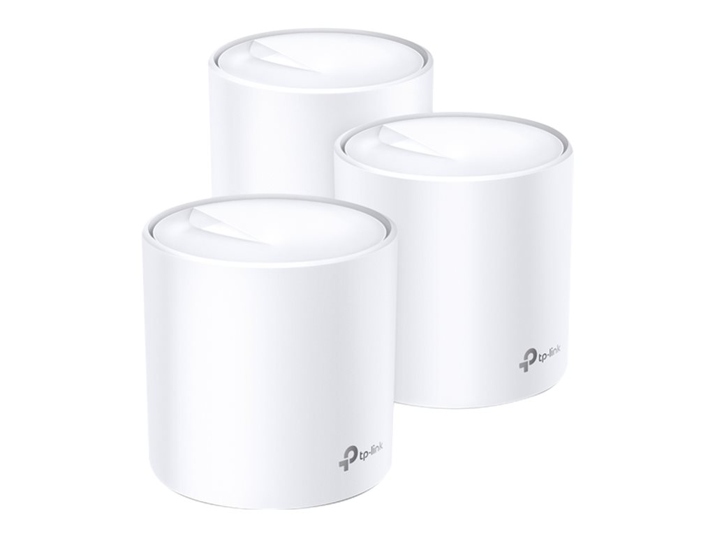 TP-Link Deco X60 - WLAN-System (3 Router) - GigE, 802.11ax - 802.11a/b/g/n/ac/ax - Dual-Band