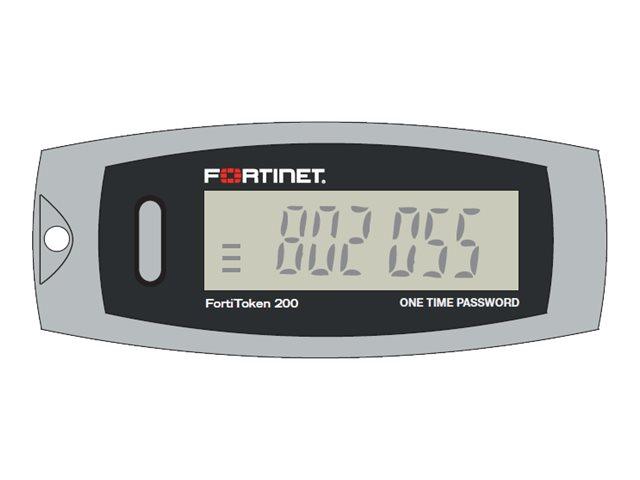 Fortinet FortiToken 200 - Hardwaretoken (Packung mit 100) - für FortiGate 11X, 1240, 20, 200, 30XX, 3140, 39XX, 40, 5001, 60, 62