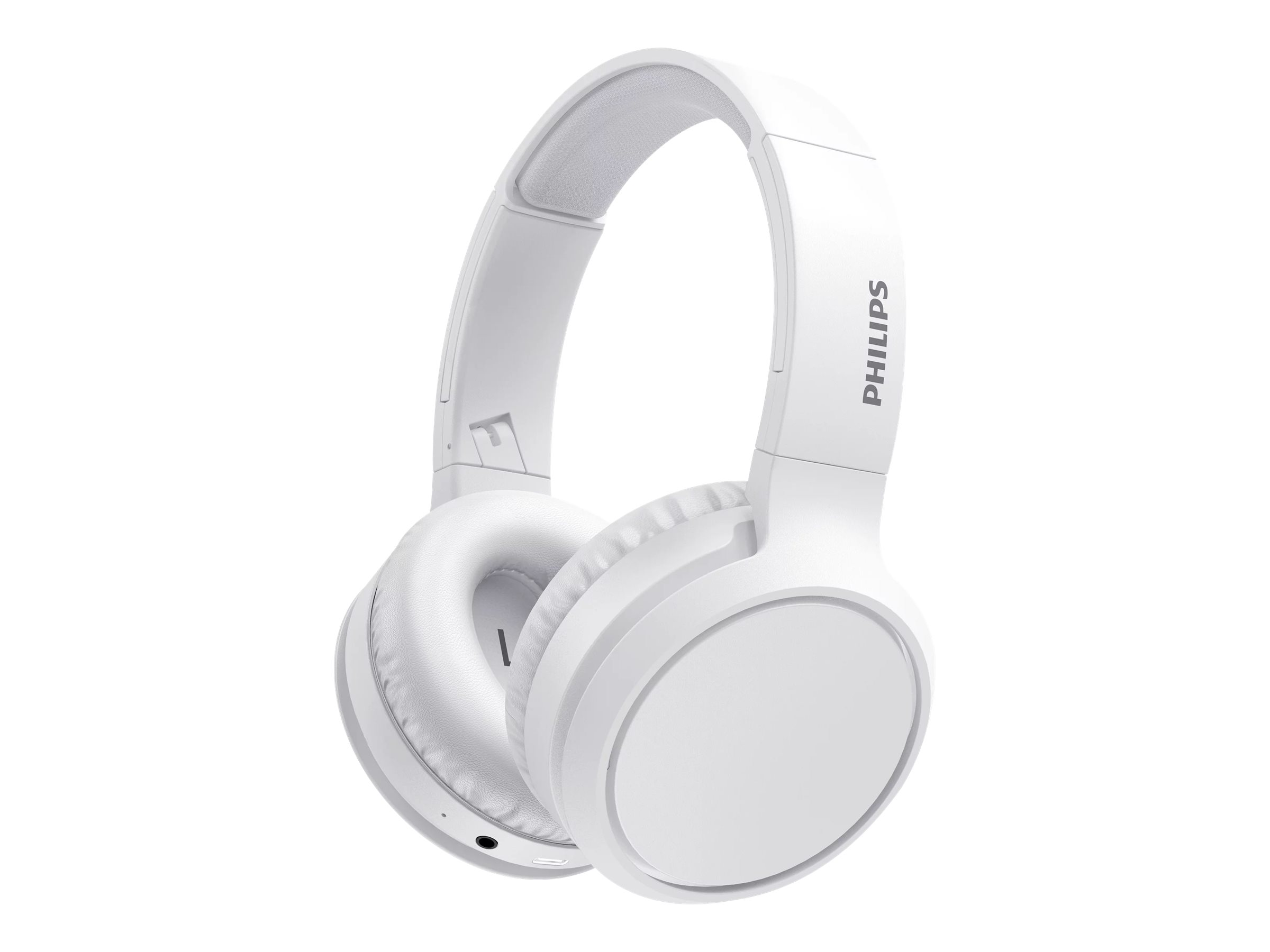 Philips TAH5205WT - Kopfhörer mit Mikrofon - ohrumschliessend - Bluetooth - kabellos - weiss