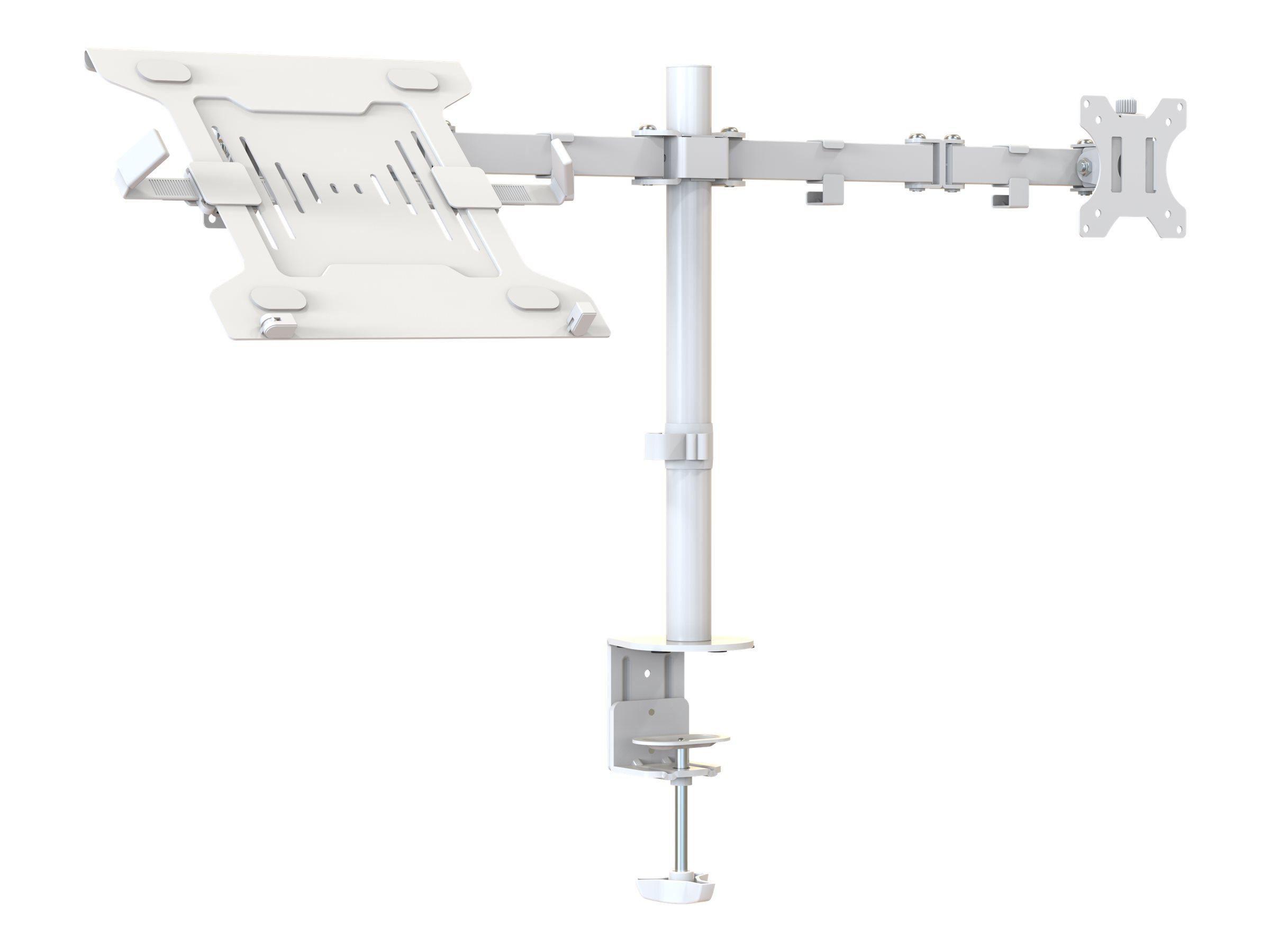 Vision VFM-DPD2W+S - Befestigungskit (Tischplattenbohrung, Doppelgelenkarm, 2 VESA-Adapter, Notebook-Ablage, 17,4