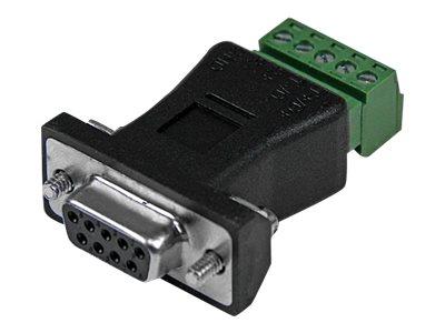 StarTech.com RS422 RS485 Seriell DB9 auf Klemmleiste - Serieller Adapter - 5-poliger Anschlussblock bis DB-9 (M) - Schwarz - für