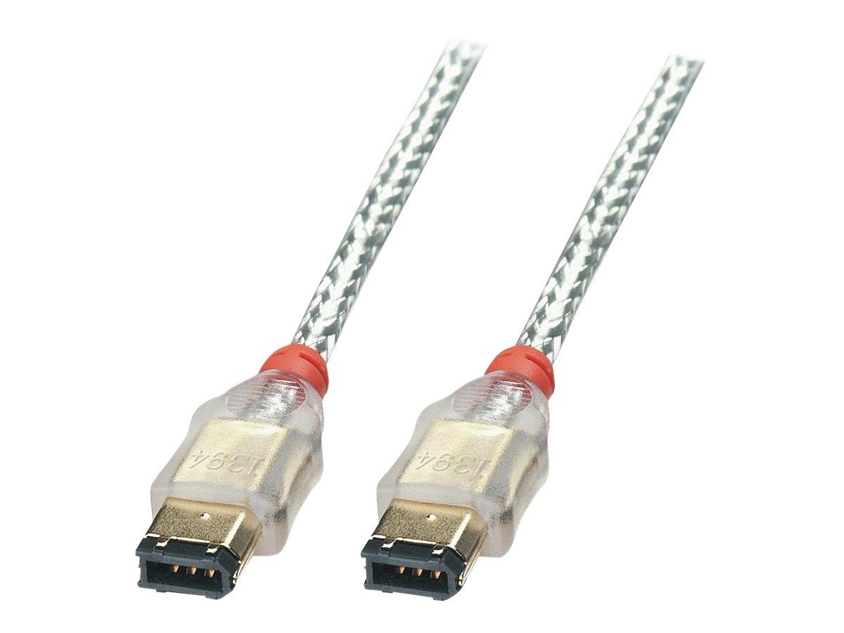 Lindy Premium - IEEE 1394-Kabel - FireWire, 6-polig (M) bis FireWire, 6-polig (M) - 30 cm - geformt - durchsichtig