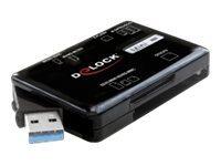 DeLOCK USB 3.0 Card Reader All in 1 - Kartenleser - All-in-one (Multi-Format) - USB 3.0