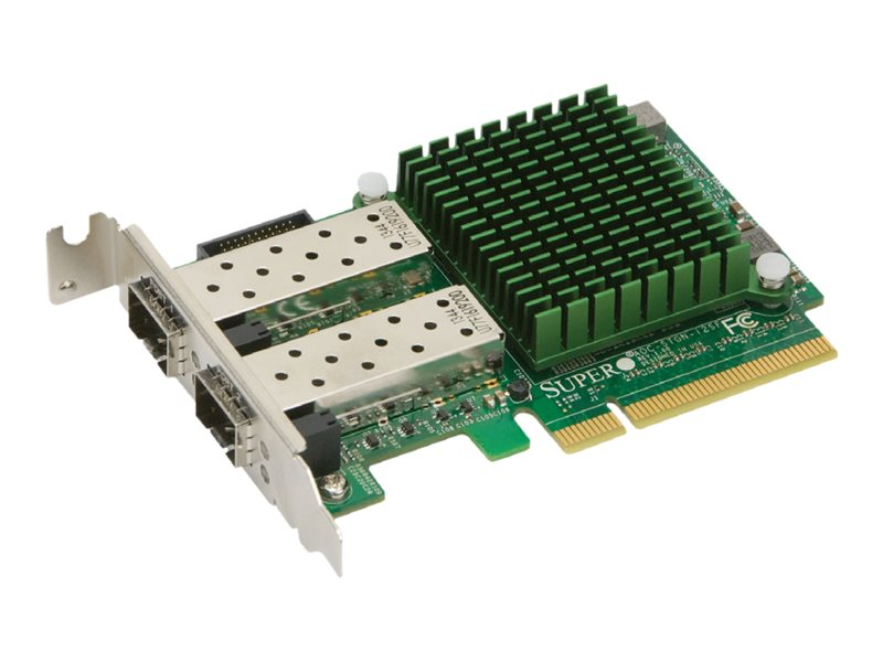 Supermicro Add-on Card AOC-STGN-I2SF - Netzwerkadapter - PCIe 2.0 x8 Low-Profile - 10 Gigabit SFP+ x 2
