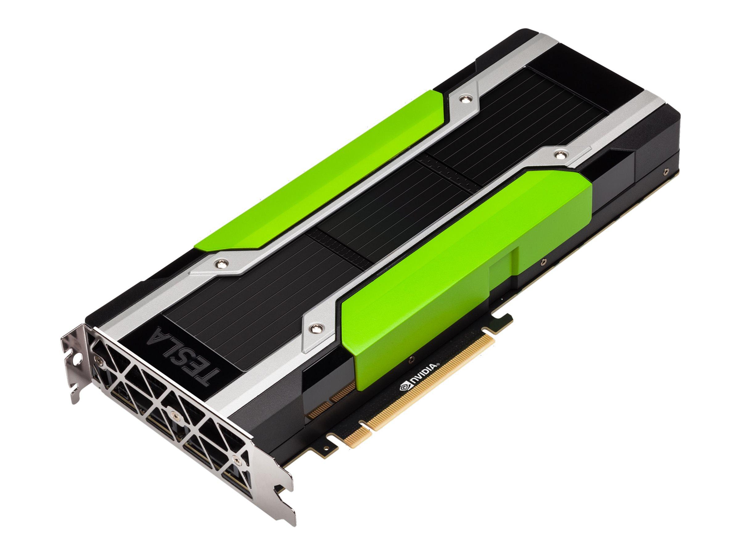 NVIDIA Tesla P100 - GPU-Rechenprozessor - Tesla P100 - 12 GB HBM2 - PCIe 3.0 x16 - ohne Lüfter
