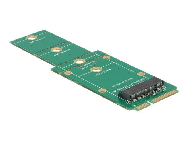Delock Adapter M.2 NGFF > mSATA - Speicher-Controller - M.2 - M.2 Card - mSATA