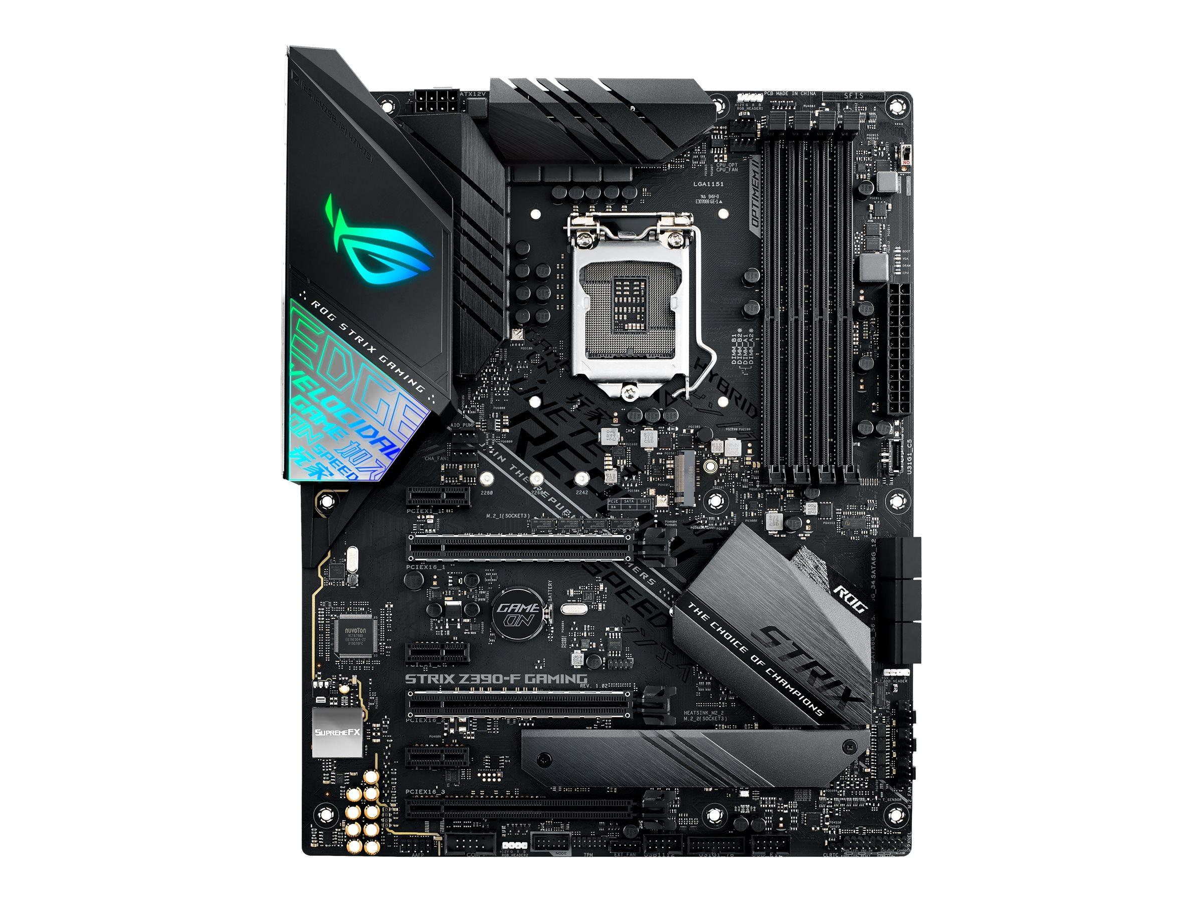 ASUS ROG STRIX Z390-F GAMING - Motherboard - ATX - LGA1151 Socket - Z390 - USB 3.1 Gen 1, USB-C Gen2, USB 3.1 Gen 2, USB-C Gen1