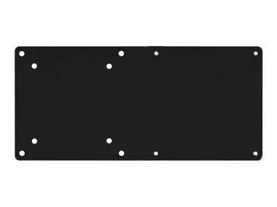 SilverStone MVA01 - Montagekomponente (Erweiterungshalterung) für Monitor - Stahl - Schwarz - Wandmontage
