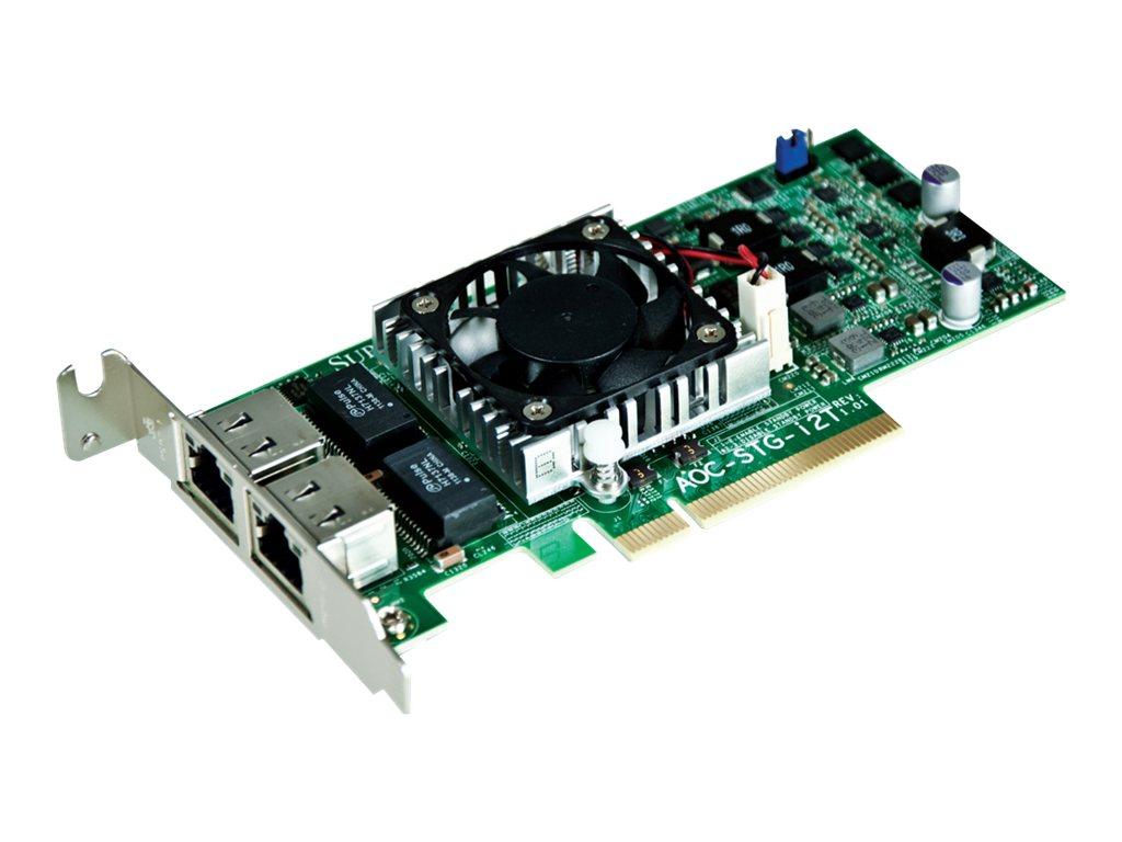 Supermicro Add-on Card AOC-STG-I2T - Netzwerkadapter - PCIe 2.1 x8 Low-Profile - 10Gb Ethernet x 2