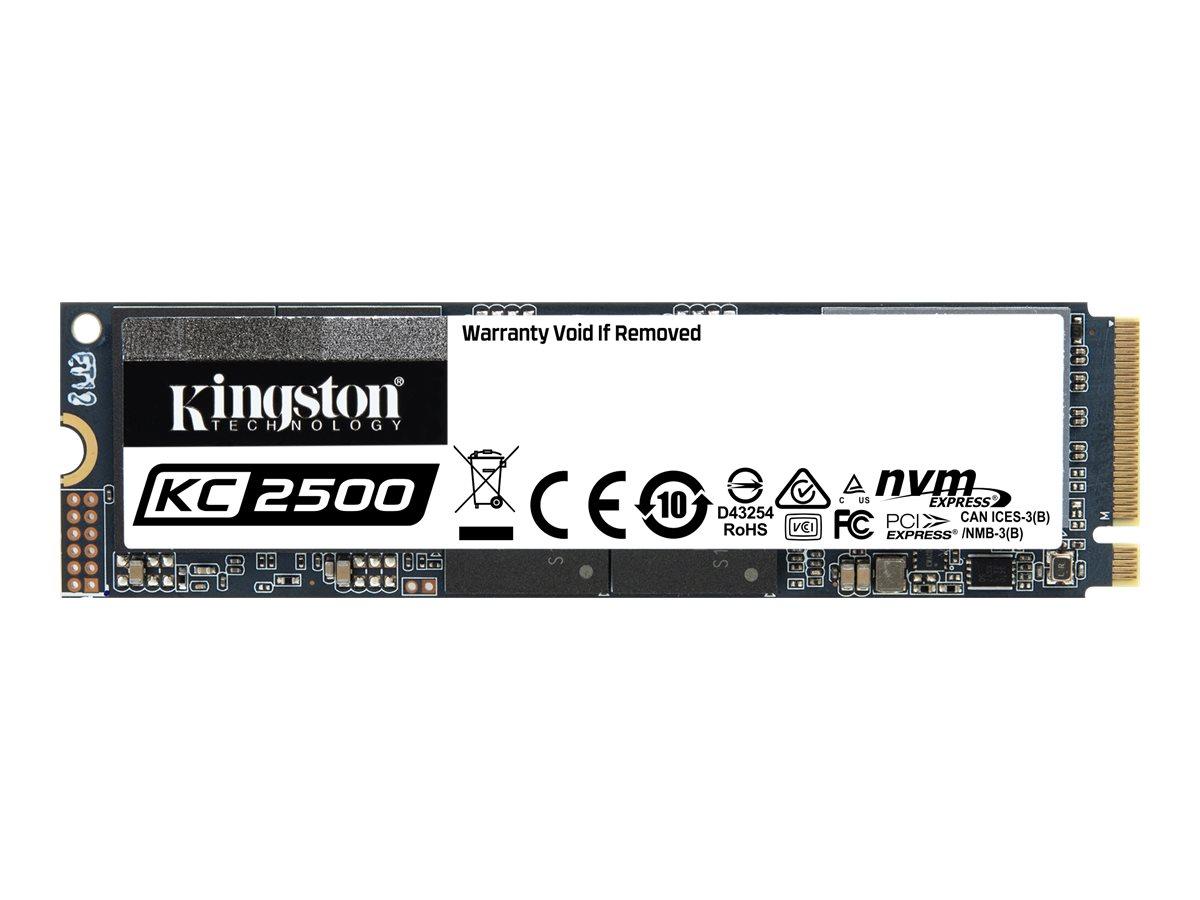 Kingston KC2500 - Solid-State-Disk - verschlüsselt - 500 GB - intern - M.2 2280