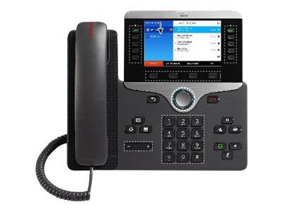 Cisco IP Phone 8851 - VoIP-Telefon - SIP, RTCP, RTP, SRTP, SDP - 5 Leitungen - holzkohlefarben