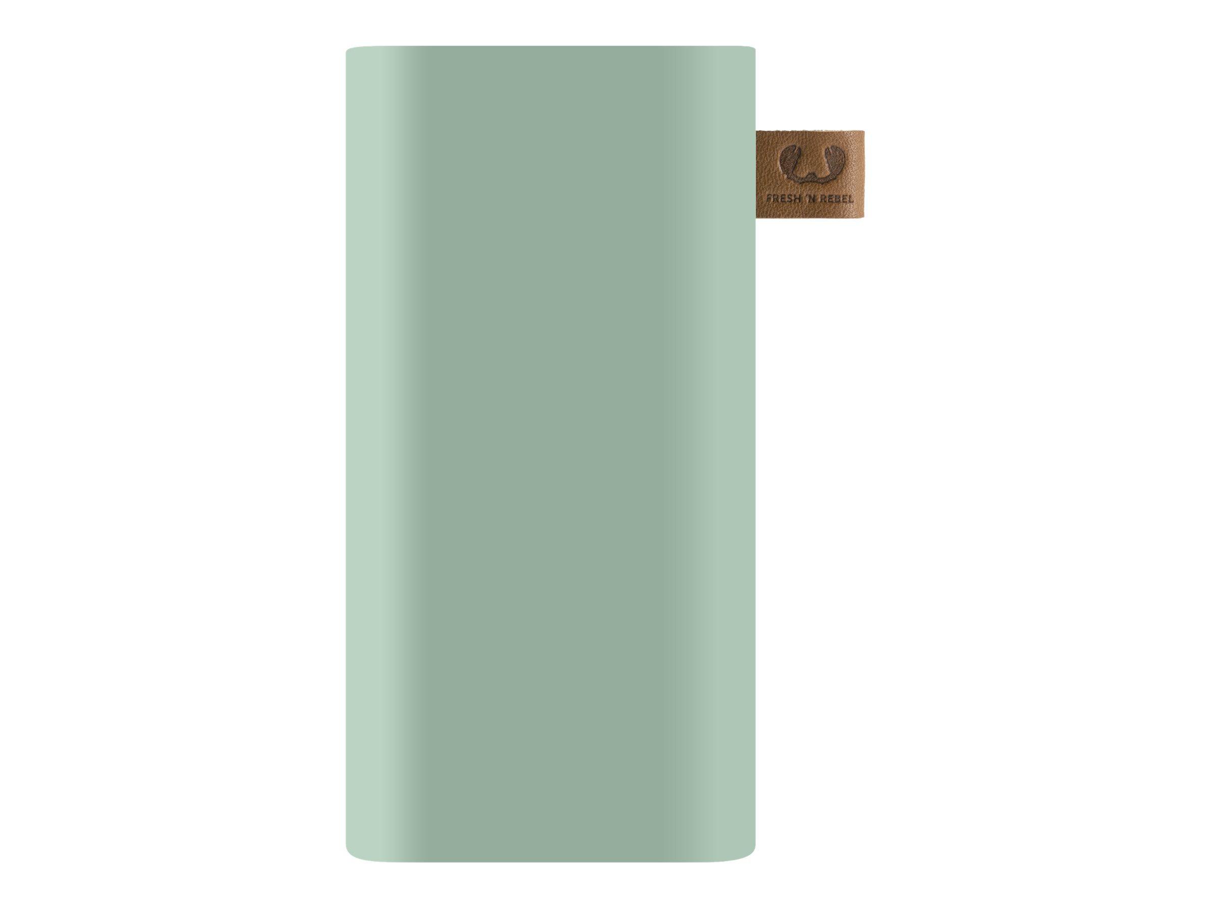 Fresh 'n Rebel Powerbank 6000 - Powerbank - 6000 mAh - 2.1 A (USB) - auf Kabel: USB-C - Mintfarben