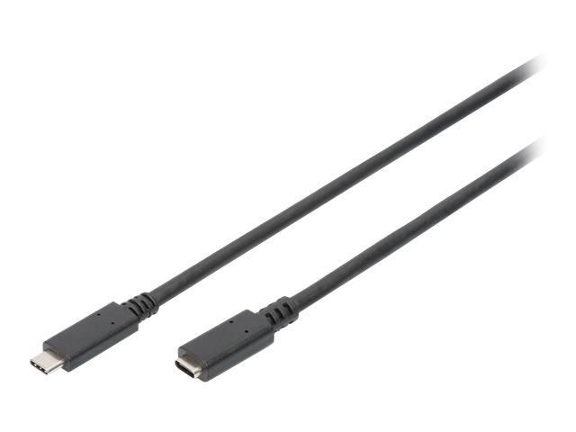 DIGITUS - USB-Verlängerungskabel - USB-C (M) bis USB-C (W) - USB 3.1 Gen 2 - 20 V - 5 A