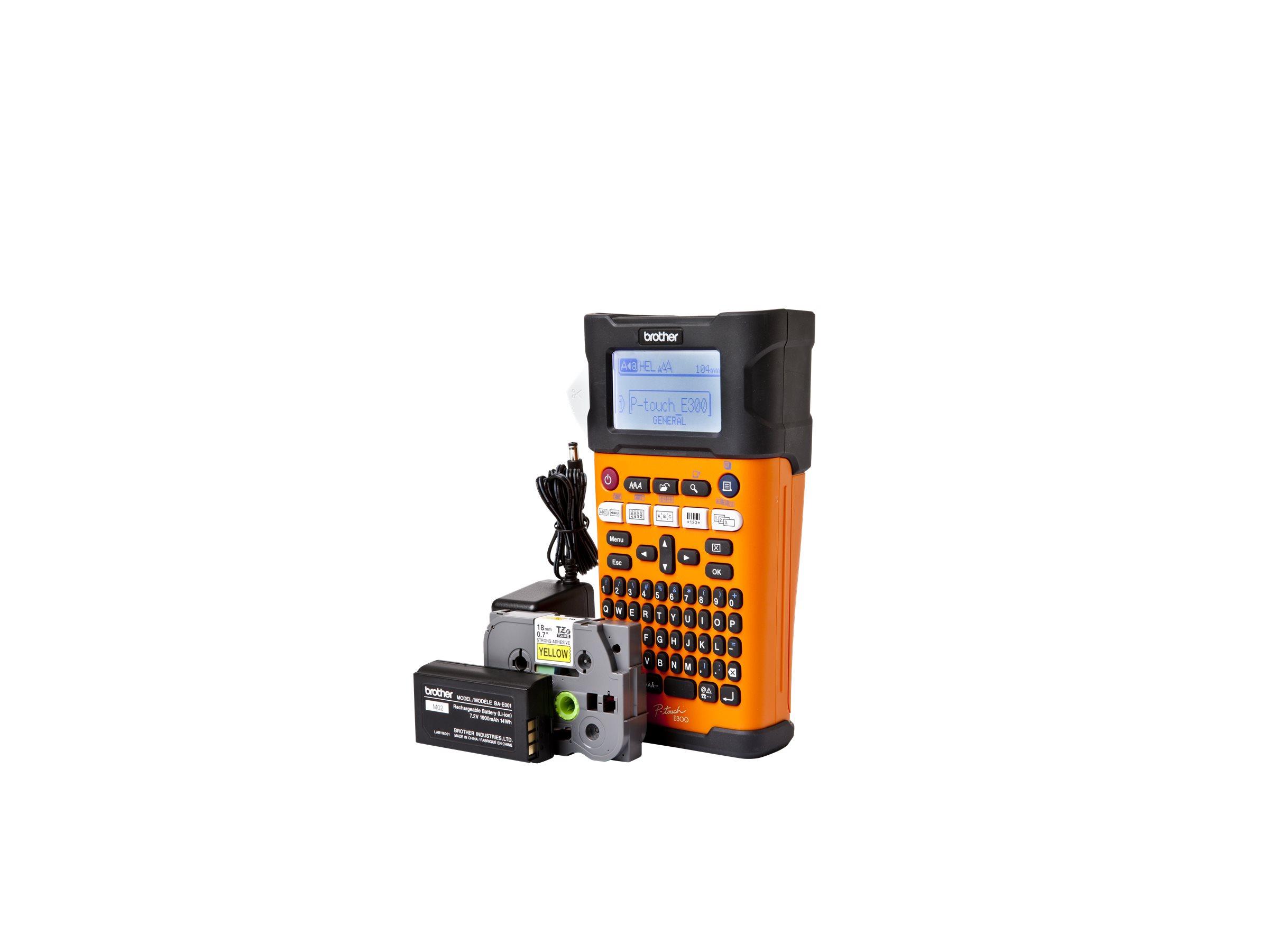 Brother P-Touch PT-E300VP - Beschriftungsgerät - s/w - Thermodirekt - Rolle (1,8 cm) - 180 dpi