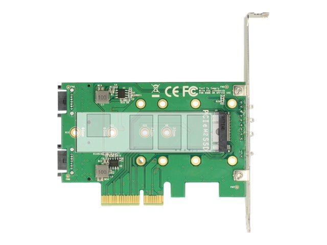 Delock PCI Express Card > 3 x M.2 Slot - Speicher-Controller - M.2 - M.2 Card / SATA 6Gb/s Low-Profile - PCIe 3.0 x4