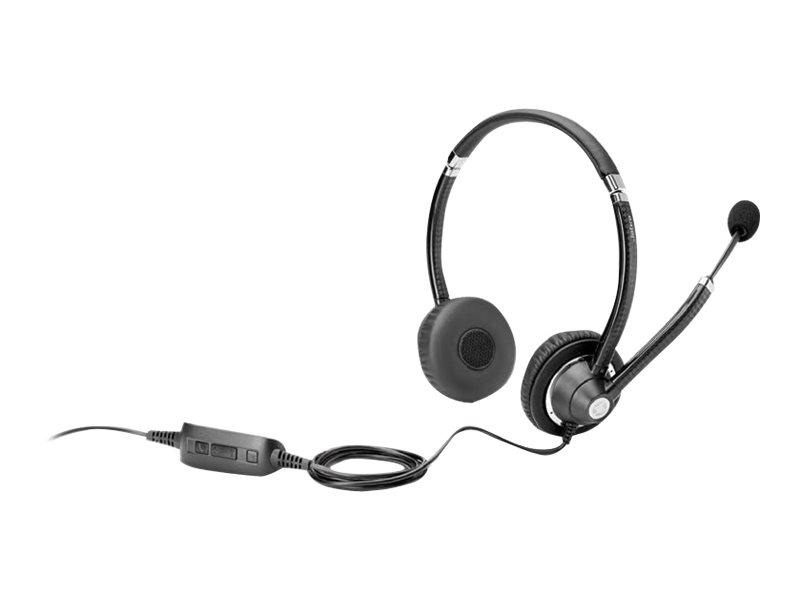 HP UC Wired Headset - Headset - On-Ear - kabelgebunden - für EliteBook 735 G6, 745 G6, 830 G6, 840 G6, 850 G6; EliteBook x360; Z
