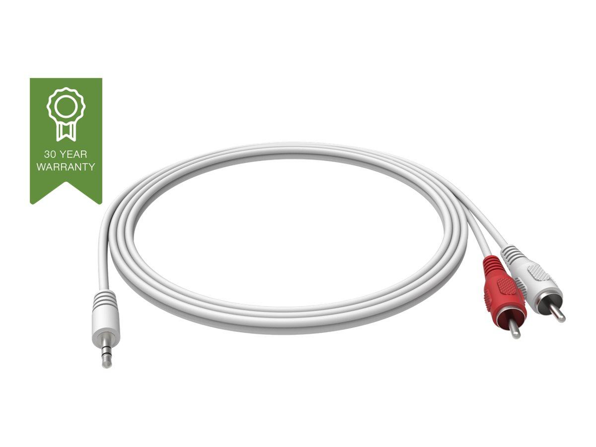 VISION Techconnect - Audiokabel - RCA (M) bis Stereo Mini-Klinkenstecker (M) - 2 m - weiss