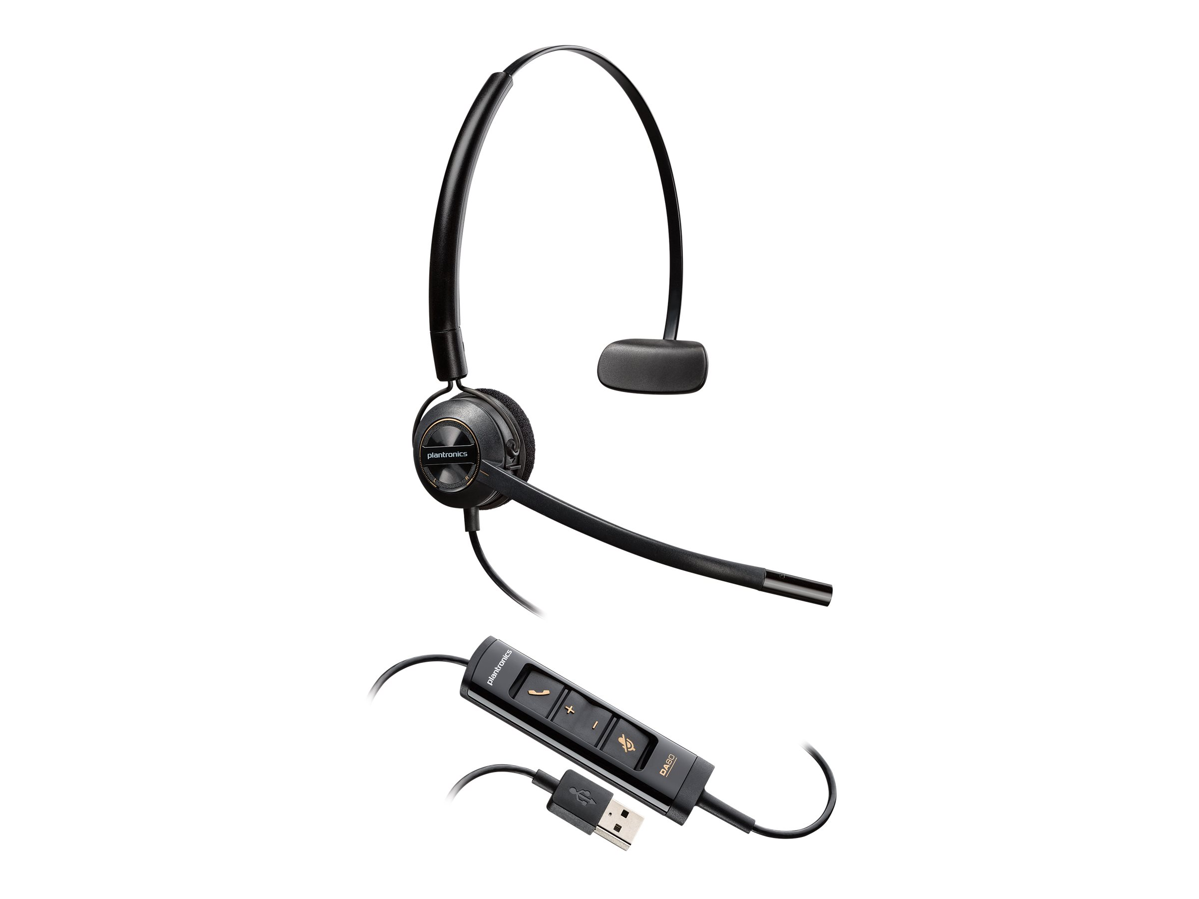 Poly EncorePro HW545 - Headset - On-Ear - konvertierbar - kabelgebunden - USB