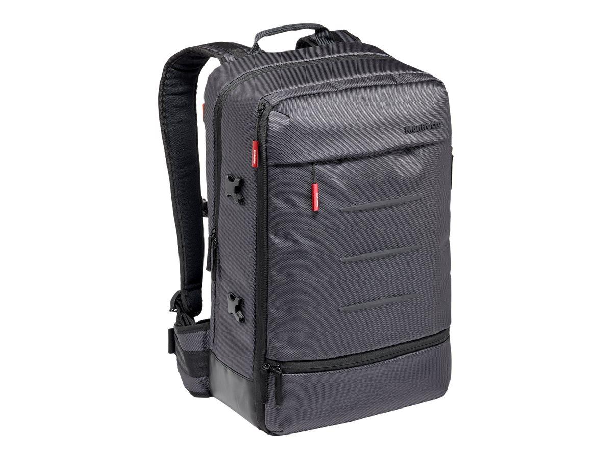 Manfrotto Manhattan - Rucksack für digitale Fotokameras mit Objektiv / Notebook / Stativ - Synthetikstoff - Grau