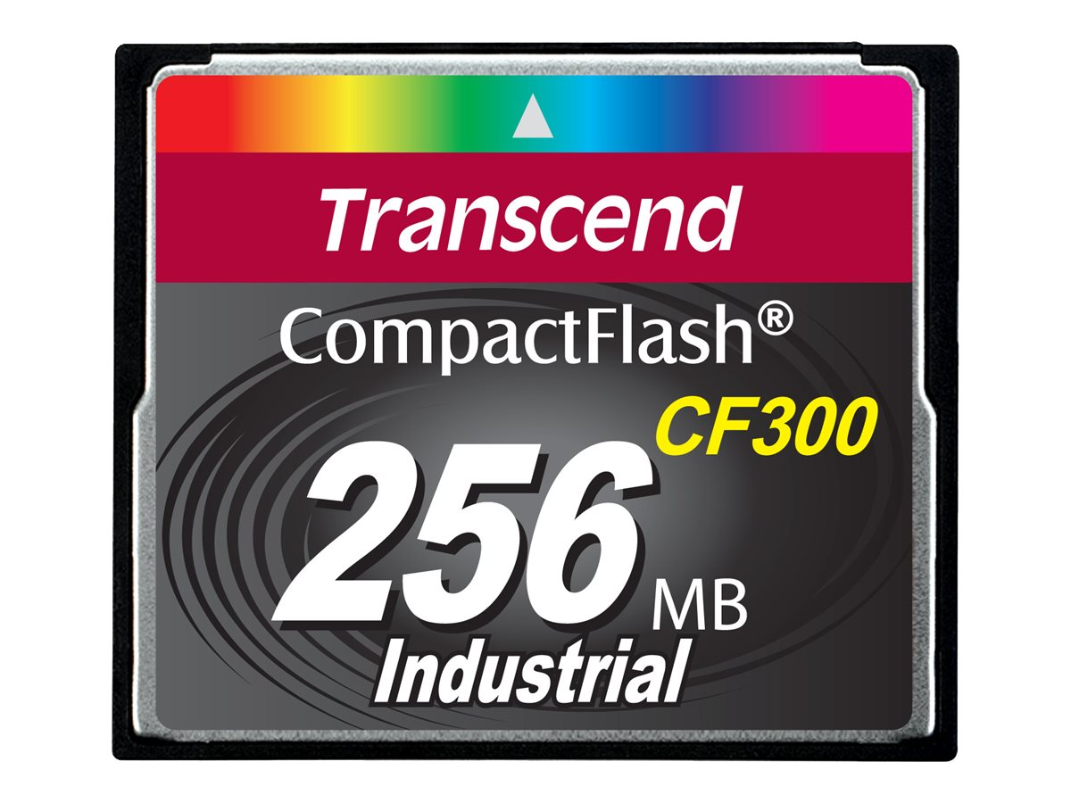 Transcend CF300 Industrial - Flash-Speicherkarte - 256 MB - 300x - CompactFlash