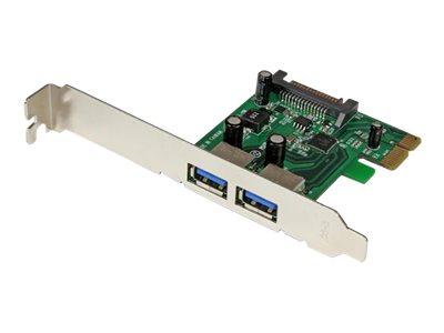 StarTech.com 2 Port PCI Express SuperSpeed USB 3.0 Schnittstellenkarte mit UASP - SATA Strom - 2-fach USB 3 PCIe Karte mit SATA